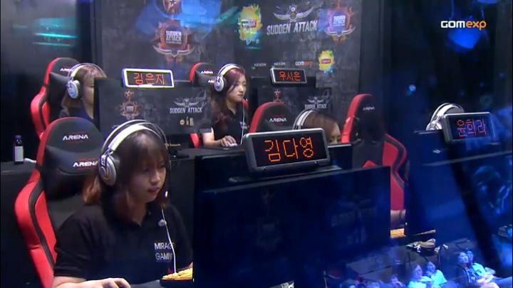 2015 립톤 서든어택 챔피언스리그 섬머 여성부 결승전 2set  MiraGe[FLAME] vs remarkable!!